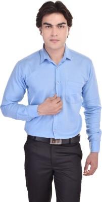 25th R Men's Solid Formal Blue Shirt