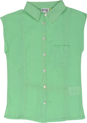 cc09f2ea3b7e Eves Pret A Porter Girls Solid Casual Green Shirt available at Flipkart for  Rs.249
