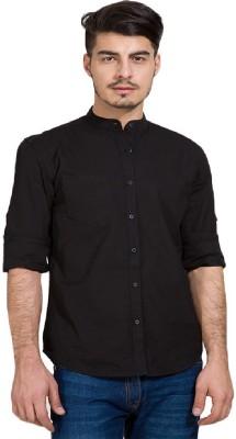Urbano Fashion Men's Solid Casual Black Shirt