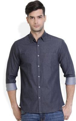 Urban Attire Men's Printed Casual Black Shirt
