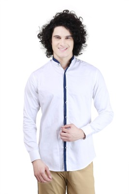 Skoosh Men's Solid Casual White Shirt