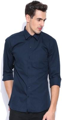 Oshano Men's Solid Casual Dark Blue, Dark Blue Shirt at flipkart