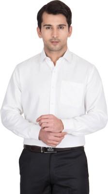 John Hupper Men's Solid Formal Button Down Shirt
