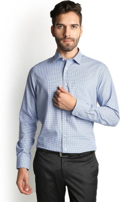 Blackberrys Men's Checkered Formal Blue Shirt at flipkart