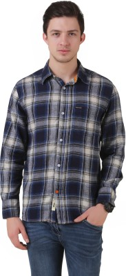 Mind The Gap Men's Checkered Formal Multicolor Shirt