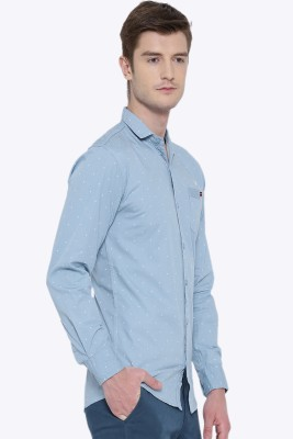 Fifty Two Men's Solid Casual Blue Shirt