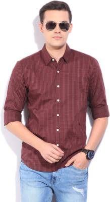 Levi's Men's Checkered Casual Maroon Shirt