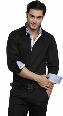 Dazzio Men's Solid Formal Shirt