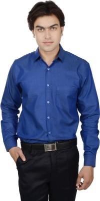 25th R Men's Solid Formal Classic Collar Shirt