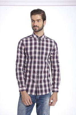 Jack & Jones Men Checkered Casual Multicolor Shirt at flipkart