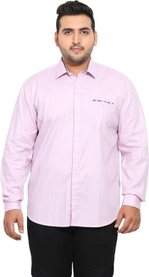 John Pride Men Solid Casual Pink Shirt at flipkart