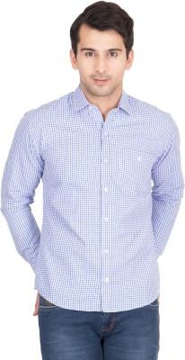 John Hupper Men's Geometric Print Casual Button Down Shirt