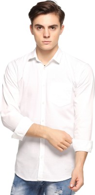 Double Arrow Men's Solid Casual White Shirt  available at flipkart for Rs.795