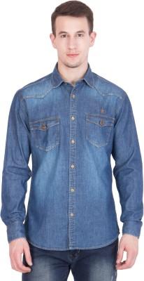 John Hupper Men's Solid Casual Button Down Shirt