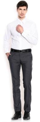PSK Men Solid Formal White Shirt PSK Formal Shirts