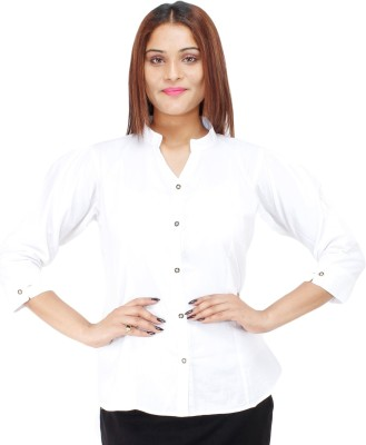 Colornext Women Solid Formal White Shirt at flipkart