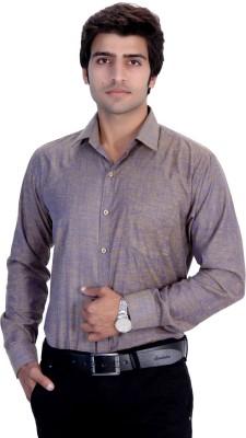 25th R Men's Solid Formal Spread Collar Shirt