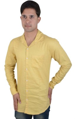 Red Rezz Men's Solid Casual Yellow Shirt