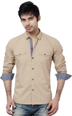La Seven Men's Solid Casual Slim collar Shirt