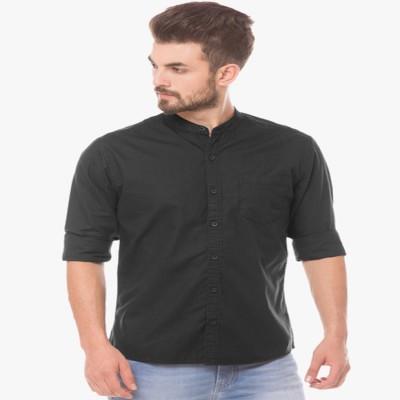 54a8f6cec 72% OFF on Being Fab Men's Solid Formal Chinese Collar Shirt on Flipkart    PaisaWapas.com