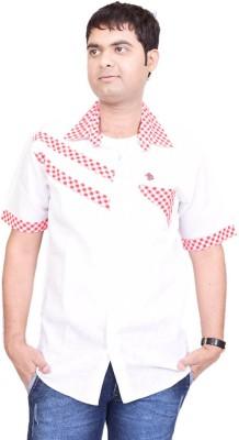British Terminal Men's Self Design Casual Shirt