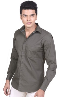 Speak Men Solid Casual Green Shirt at flipkart