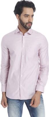 Jack & Jones Men Solid Casual Pink Shirt at flipkart