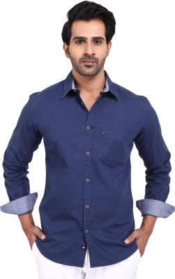 Provogue Men's Solid Casual Blue Shirt at flipkart