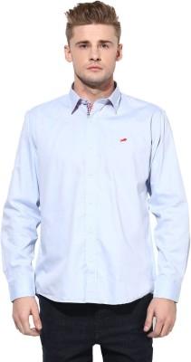 Yuvi Men's Solid Casual Blue Shirt