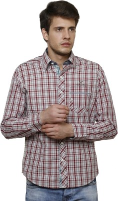 True Tittos Men's Checkered Casual Red, Black, White Shirt