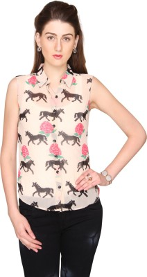 Bedazzle Women's Printed Casual Multicolor Shirt  available at flipkart for Rs.299