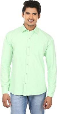 Modish Vogue Men's Solid Casual Light Green Shirt