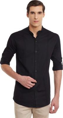 b25cb1dc6 48% OFF on Wild Hunk Men's Solid Casual MANDARIN OR CHINESE COLLAR Shirt on  Flipkart   PaisaWapas.com
