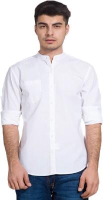 Urbano Fashion Men's Solid Casual White Shirt