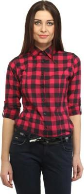 Dream Girl Women Checkered Casual Red Shirt