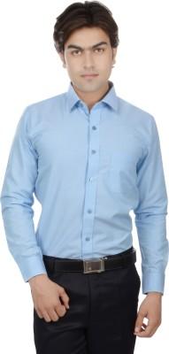 25th R Men's Solid Formal Light Blue Shirt