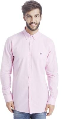 Selected Men Solid Casual Pink Shirt at flipkart