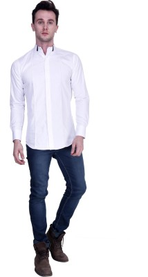 Protext Men's Solid Formal White Shirt at flipkart