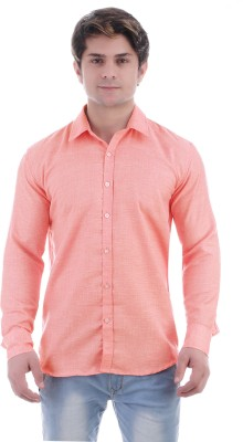 Masculine Affair Men's Solid Casual Cut Away Shirt