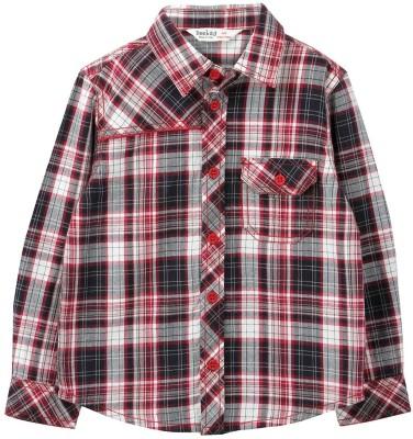 Beebay Baby Boys Checkered Casual Red Shirt