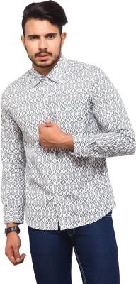 Yepme Men's Printed Casual White, Grey Shirt at flipkart