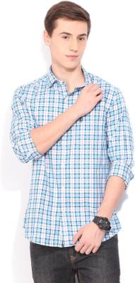 U.S. Polo Assn. Men's Checkered Casual Blue Shirt