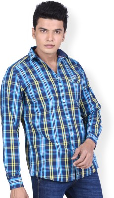 Speak Men Checkered Casual Blue, Yellow, White, Light Blue Shirt at flipkart