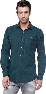 Speak Men's Checkered Casual Green Shirt at flipkart