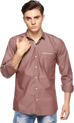 Double Arrow Men's Solid Casual Maroon Shirt  available at flipkart for Rs.795