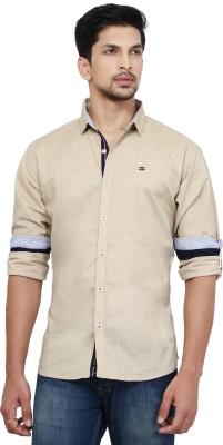La Seven Men's Solid Casual Shirt