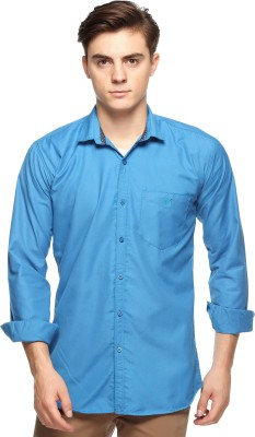 Double Arrow Men's Solid Casual Light Blue Shirt  available at flipkart for Rs.795