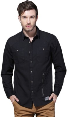 Buy Roadster Men's Solid Casual Black Shirt Online at Best Price in India