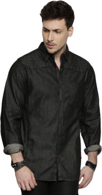 Roadster Men Solid Casual Black Shirt at flipkart