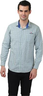 Club Martin Men's Checkered Casual Green Shirt
